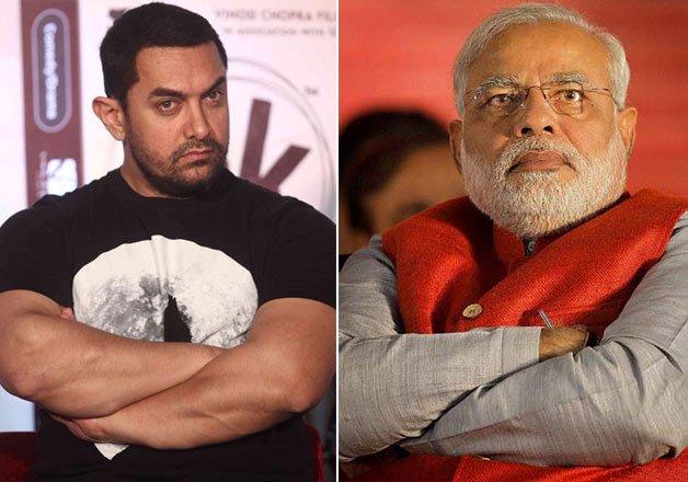 Aamir Khan supports PM Modi statement - Modi - THN