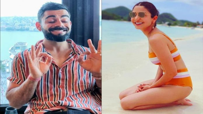 Anushka Sharma SwimSuit - Virat Kholi