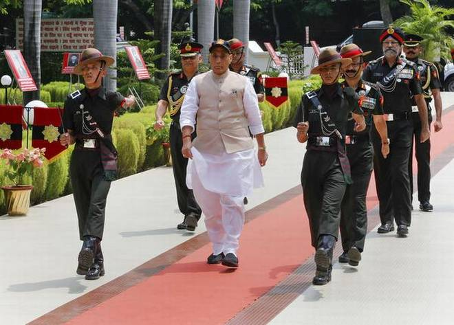 Defense Minister Rajnath Singh arrived in Leh