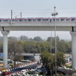 A man committed suicide by jumping from a metro bridge -Delhi