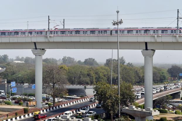 A man jumped from metro bridge