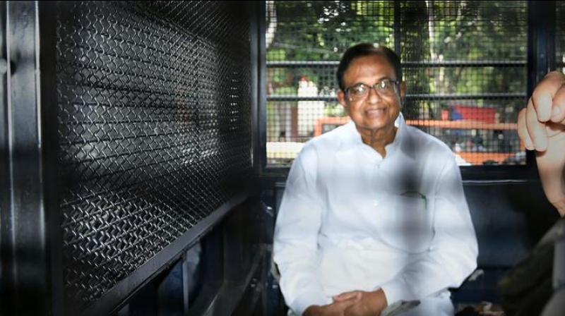 Chidambaram in Tihar Jail