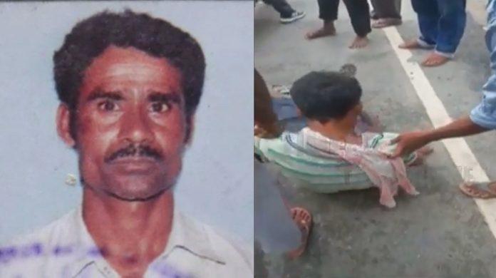 Vegetable vendor Sanatan Das beaten