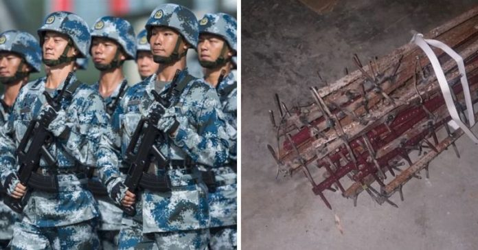 Chinese Forces Mutilated Bodies