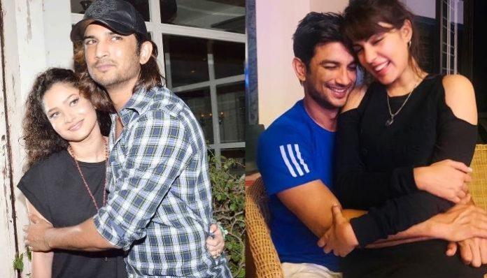 Ankita Lokhande and Sushant Singh Rajput and Rhea