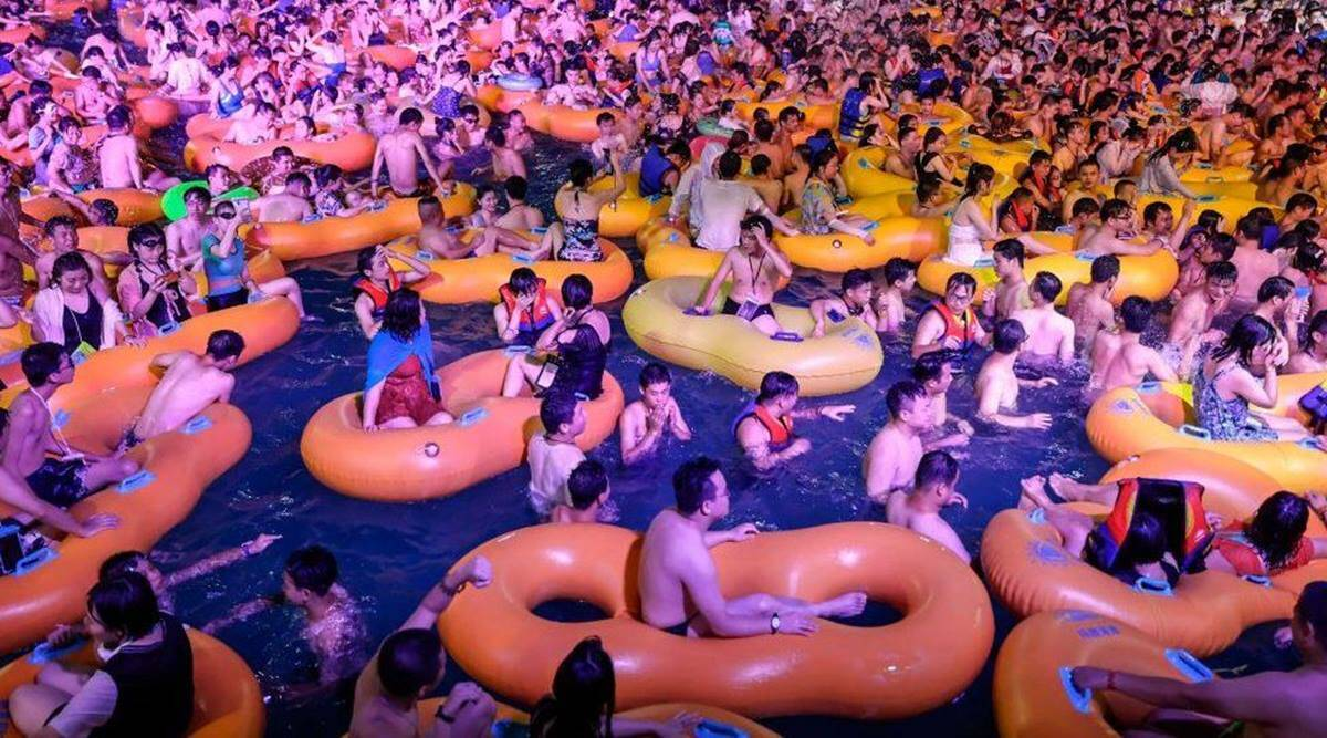 People in China doing party without Mask