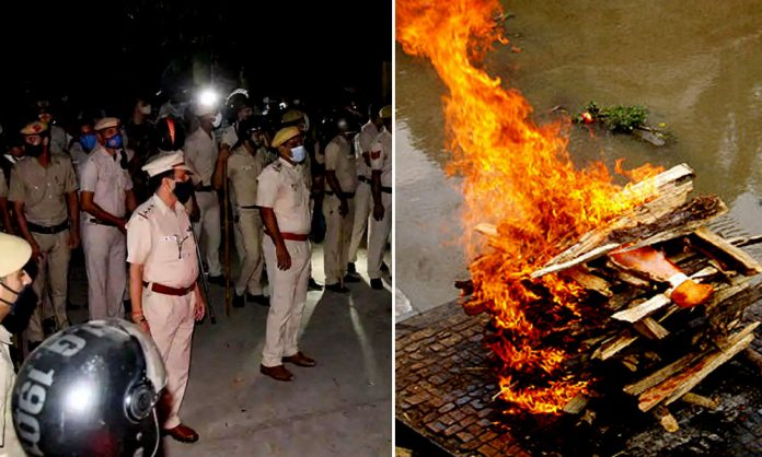 Hathras cremated body of rape victim