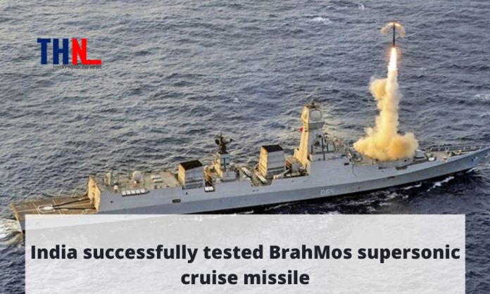 India tested BrahMos supersonic