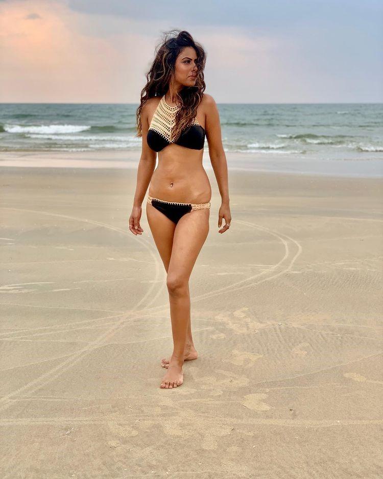 Nia Sharma black Bikini photo