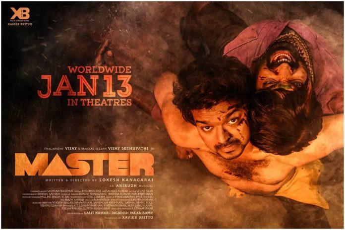 Tamil's blockbuster hit film Master