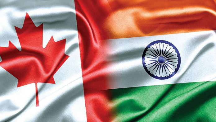 Canada and India Flags