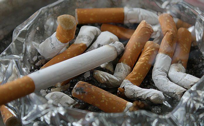 cigarettes ash